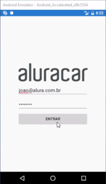 Tela inicial Aluracar