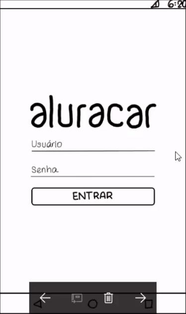 Wireframe do app