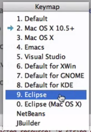 keymap do eclipse