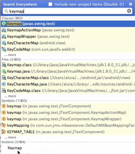 pesquisando keymap