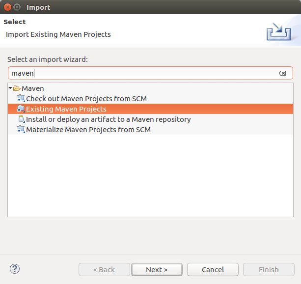 Existing Maven Project