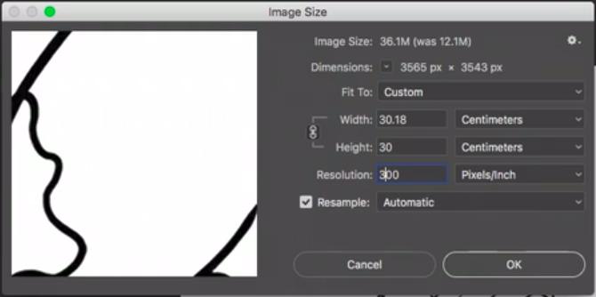 ajustando configurações de tamanho e resolução