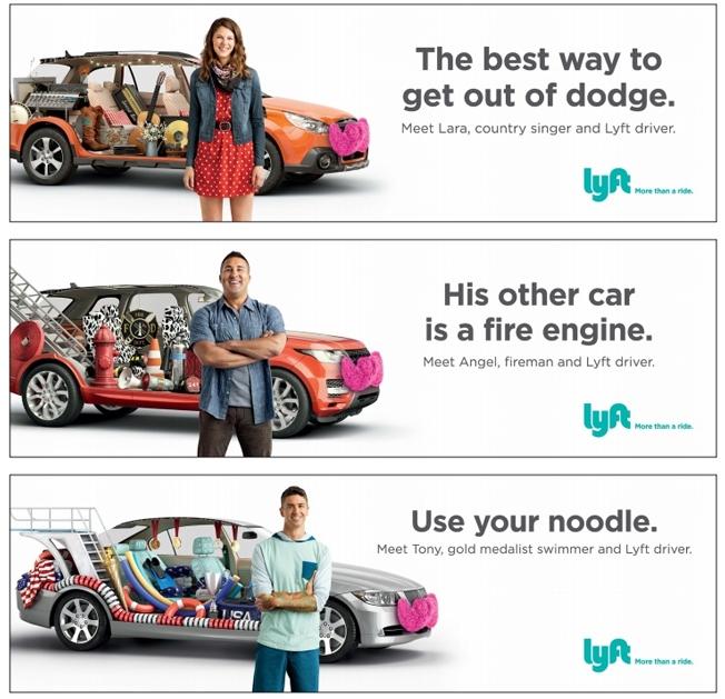 campanha que mostra parte da vida do motorista lyft