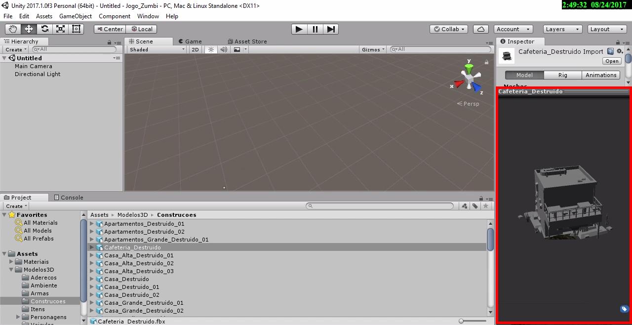Visualizacao objeto 3d