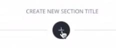 botão Create new section title