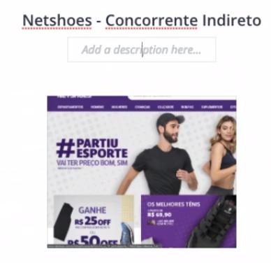 seção Netshoes - Concorrente Indireto