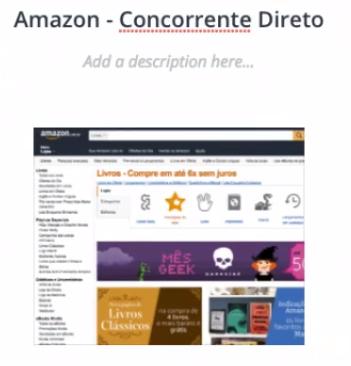 seção Amazon - Concorrente Direto