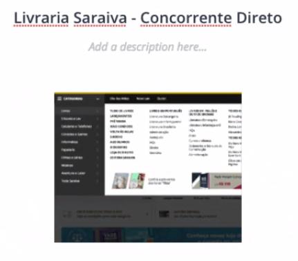 seção Livraria Saraiva - Concorrente Direto