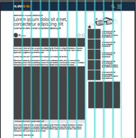 conteúdo da página à esquerda e widgets à direita