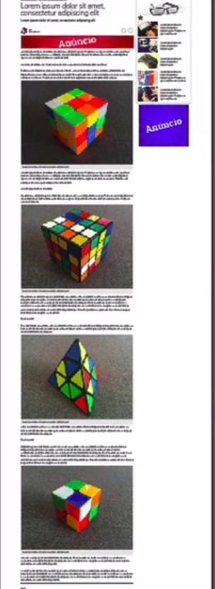 página interna com todas as imagens