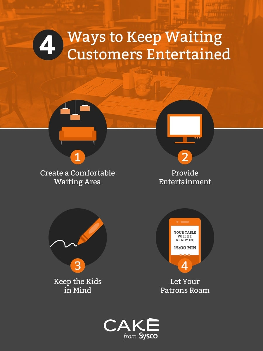 4 ways to keep waiting customers entertained