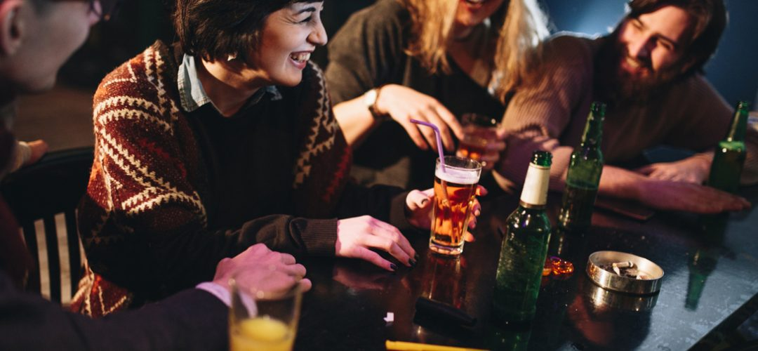 Bar scene with Gen Z guests enjoying drink trends that are popular amongst younger guests