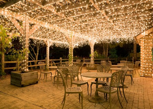 Nice outdoor seating that can boost profits with events