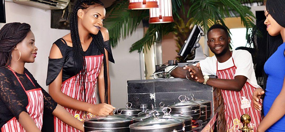Restaurant staff showing good communicating in restaurant