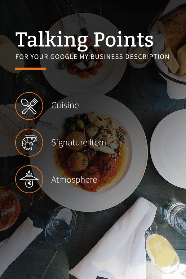 Google My Business for Restaurants talking points
