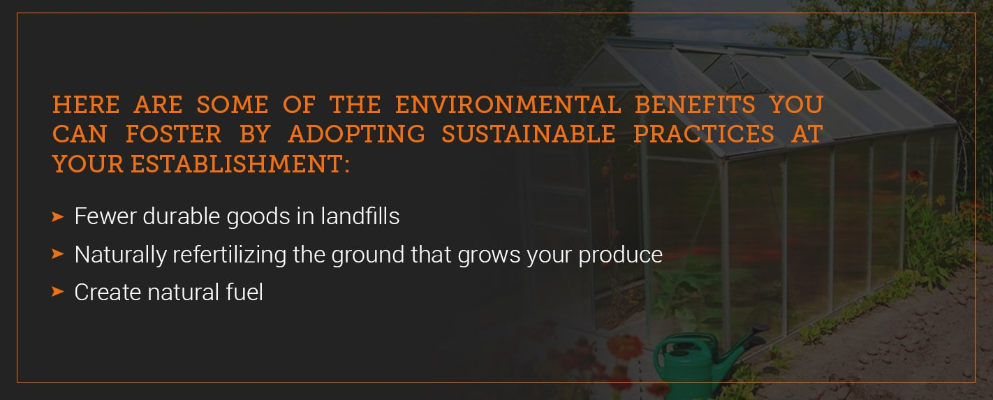 benefits of sustainable restaurant practices