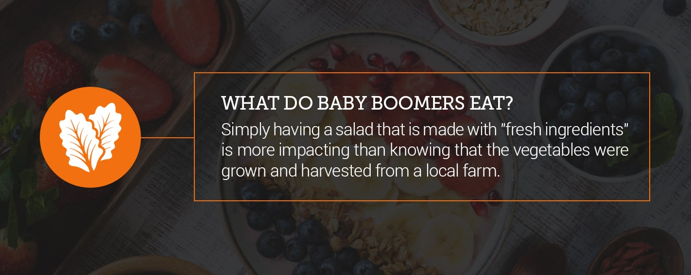 what Baby Boomers eat