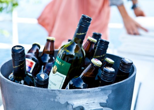 Ice bucket containing different beers to show how do BYOB restaurants work