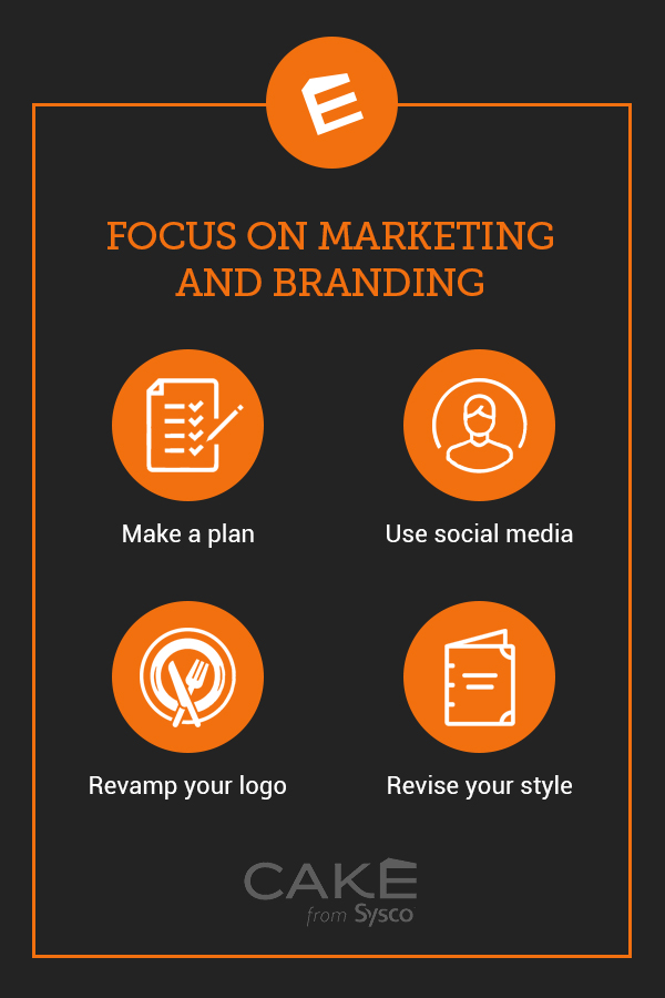 tips to focus on marketing and restaurant rebranding