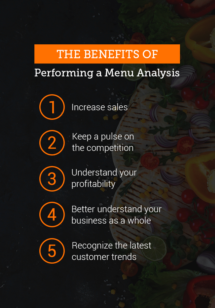 benefits of a menu analysis