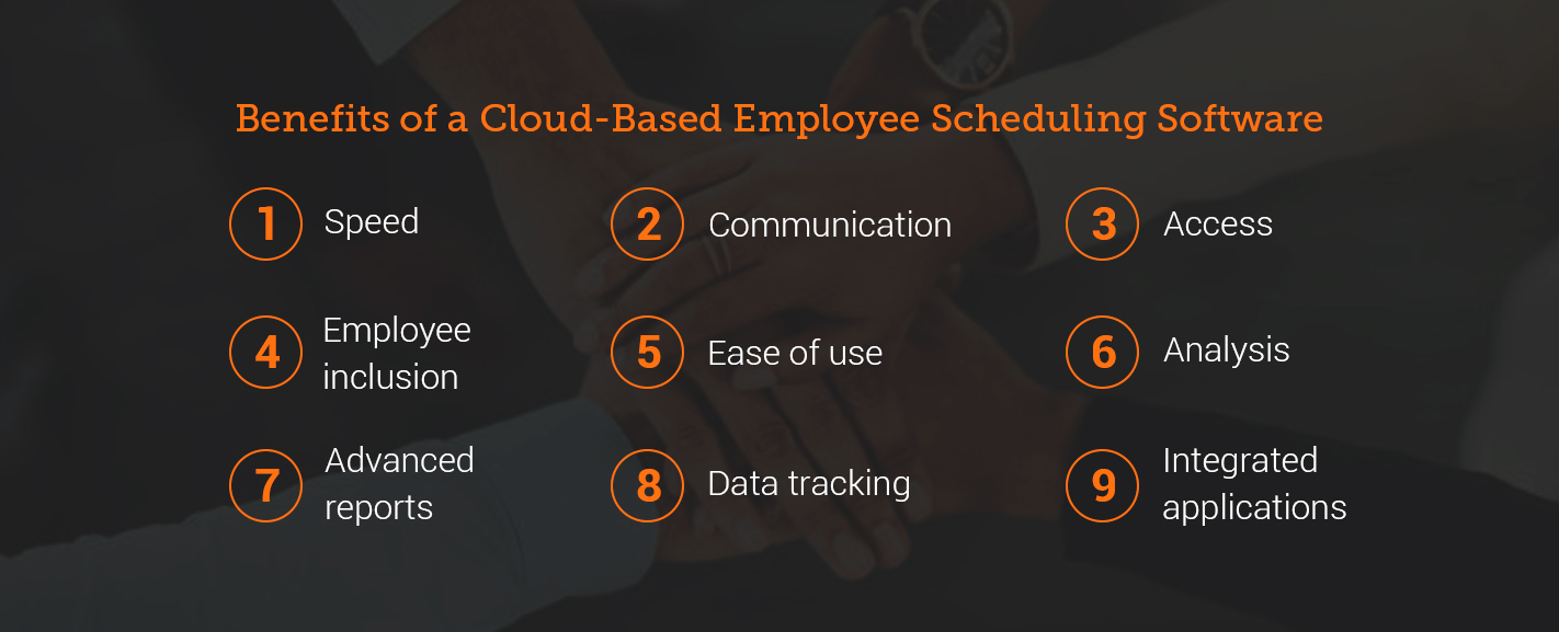 benefits of a cloud-based employee scheduling software