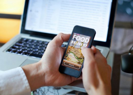 iPhone with third party app for a restaurant online ordering system