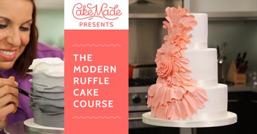 Modern Ruffle Cakes & Cupcakes