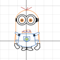 Blank Graphing Art Project- Minion
