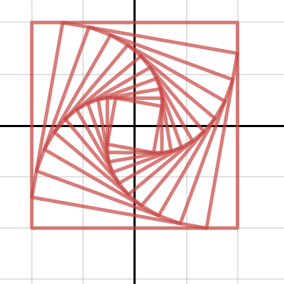 Image of Running away square with turn