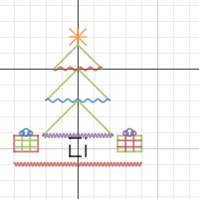 Desmos Christmas Tree