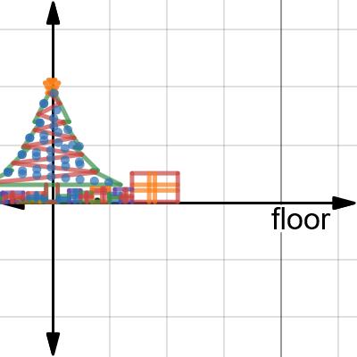 Image of math project Christmas tree