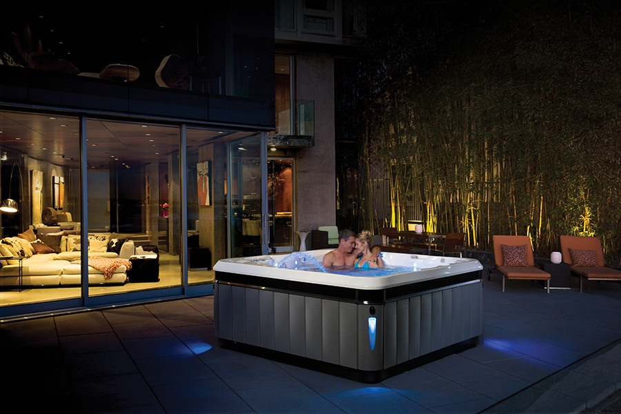 contemporary homes with Asian inspired gardens can benefit from a modern garden hot tub