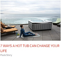 a hard workout in the gym can lead to sore muscles and a hot tub can be your relief