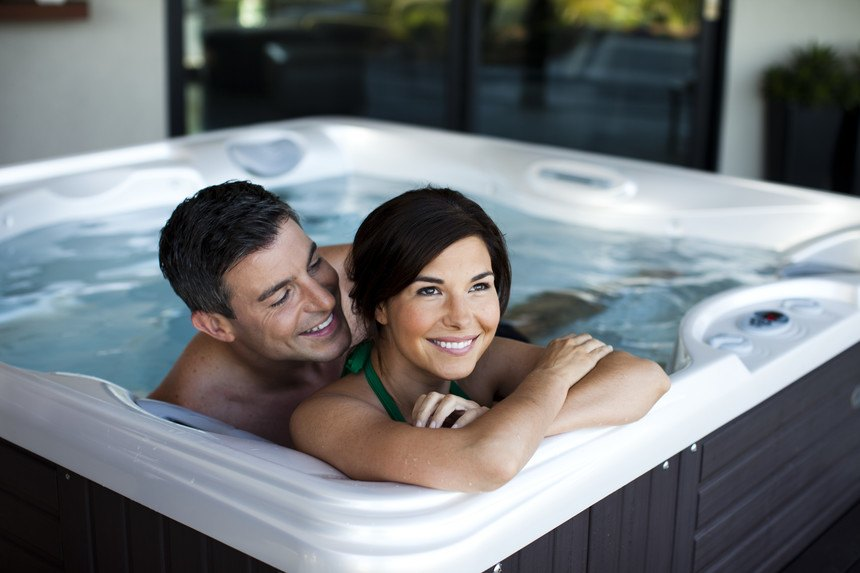Relief from stress and anxiety is a possible benefit of hot tub use.