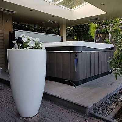 the ultimate luxury backyard retreat design with a Utopia hot tub