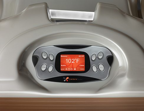 a close-up image of the Caldera Advent Wireless Hot Tub Remote Control Unit
