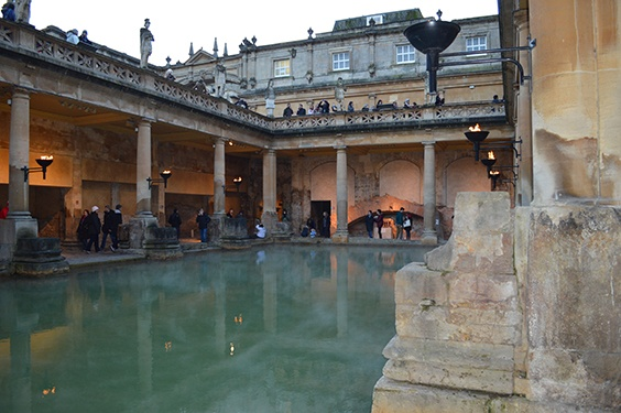 the Roman baths in Bath England demonstrates the Romans were well aware of the benefits of hydrotherapy