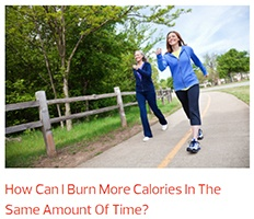 ladies walking along a forest path burn more calories in same time