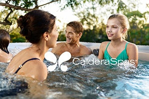 a family soaks in a hot tub together and wonders how they can motivate their teenager to talk to them