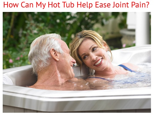 a woman smiles and relieves her joint pain through hot water hydrotherapy