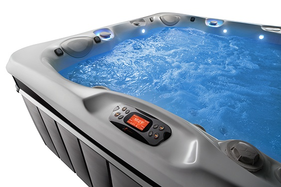 An image of hot tub massage jets in action