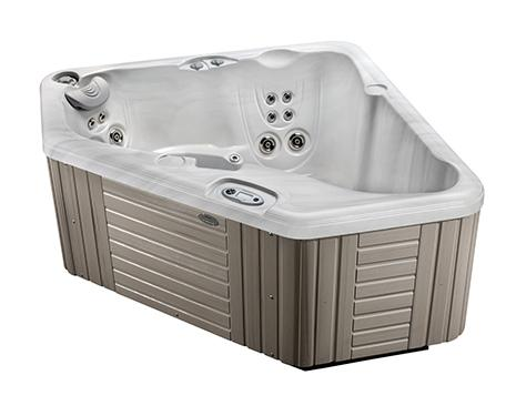 The 2-person Aventine hot tub costs less to buy and less electricity bill to run