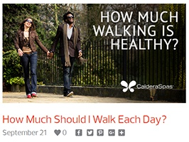 Couple walking for health benefit on a sunny day holding hands