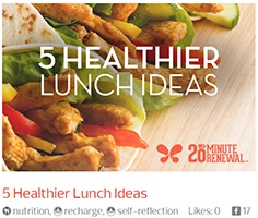 blog composite image with blog title 5 healthier lunch ideas