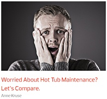 a man with hands on his face who is clearly worried about the cost of hot tub maintenance