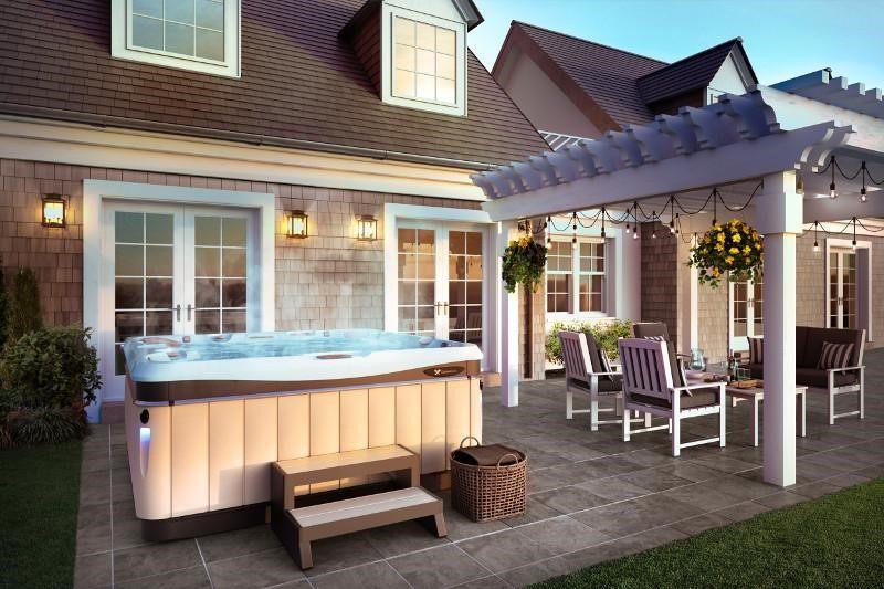 perfect portable hot tub spa design ideas for cape cod style home