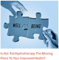 the pieces of well being and hot tub use fit together in this article