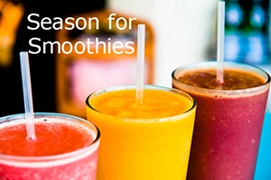 a line of scrumptious colorful smoothies ideas for the summer season