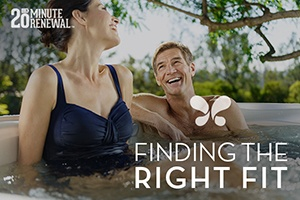 a couple enjoys the perfect hot tub for their own needs