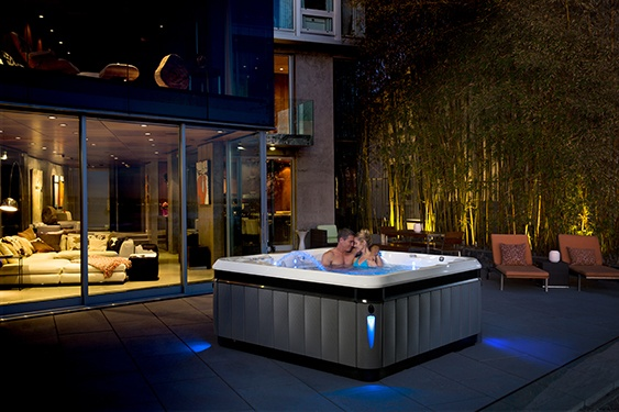 utopia tahitian hot tub transcends home design and fits in anywhere
